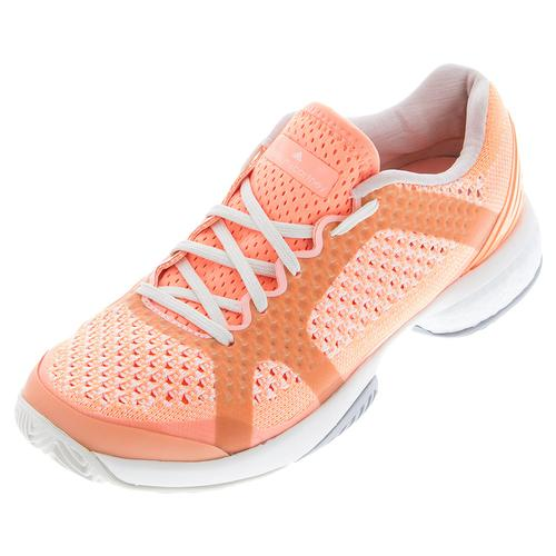 adidas Women`s Stella Barricade Boost Tennis Shoes Ultra Bright and Chalk White