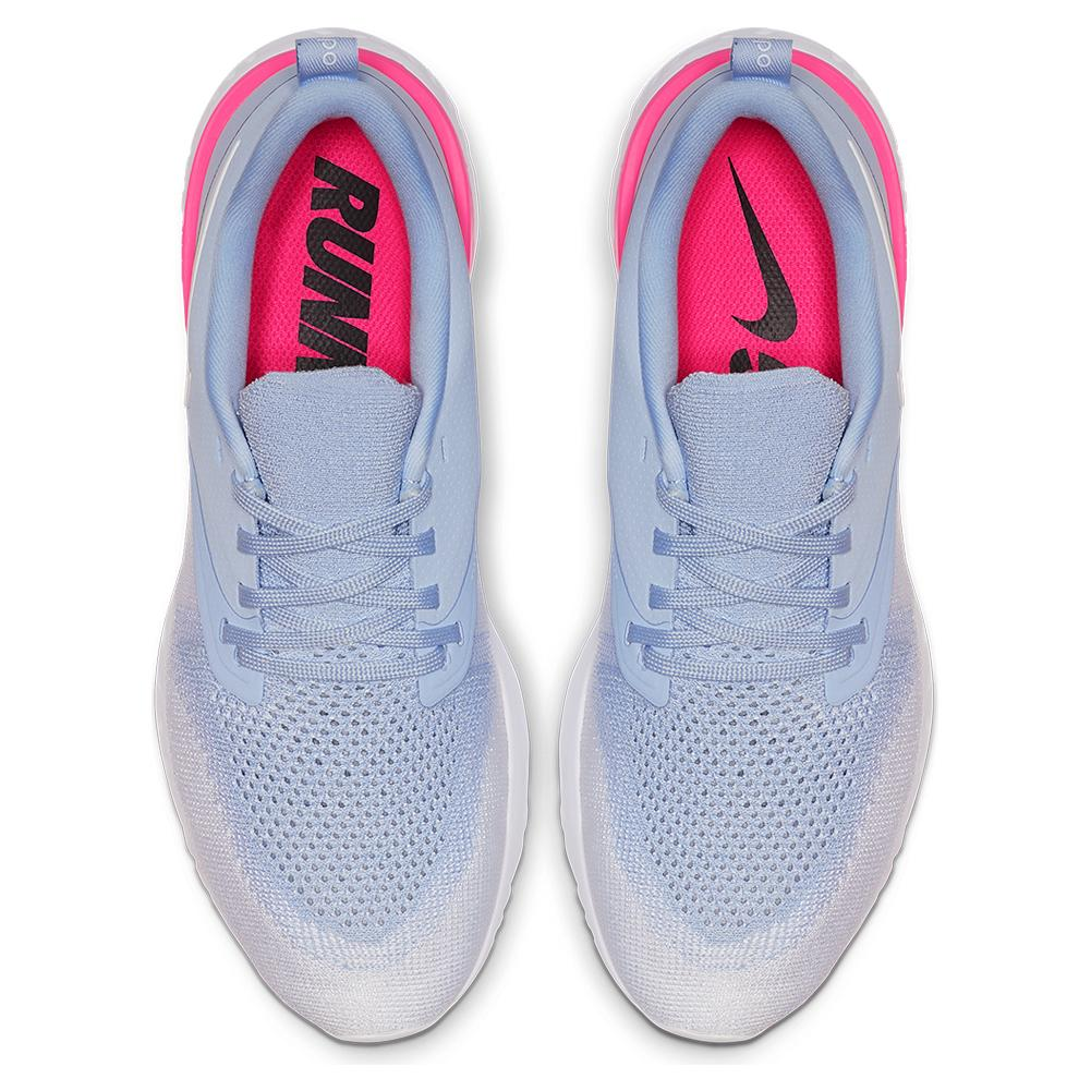adc1ce65bc65 Women s Odyssey React Flyknit 2 Running Shoes Hydrogen Blue And White.  Zoom. Hover to zoom click to enlarge. 360 View