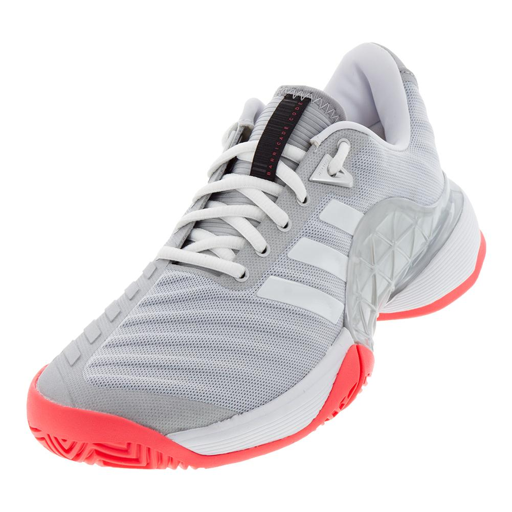 dc2c85032c961 Adidas Women s Barricade 2018 Tennis Shoes Matte Silver and White