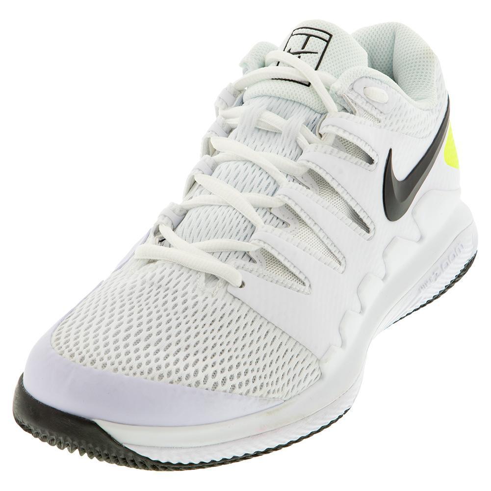 Men's Air Zoom Vapor X Wide Tennis Shoes White And Black