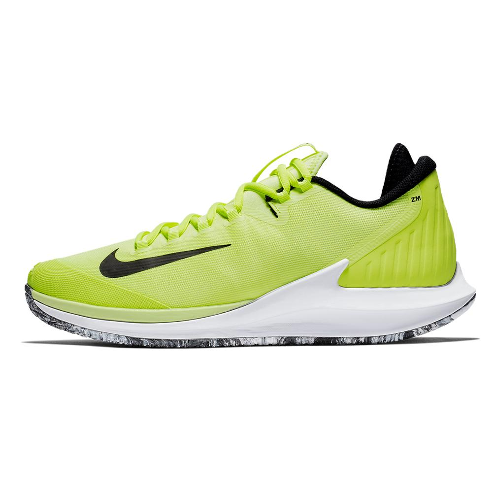 e40f38c3cb8b NIKE NIKE Men s Court Air Zoom Zero Premium Tennis Shoes Volt Glow And Black.  Zoom. Hover to zoom click to enlarge. 360 View