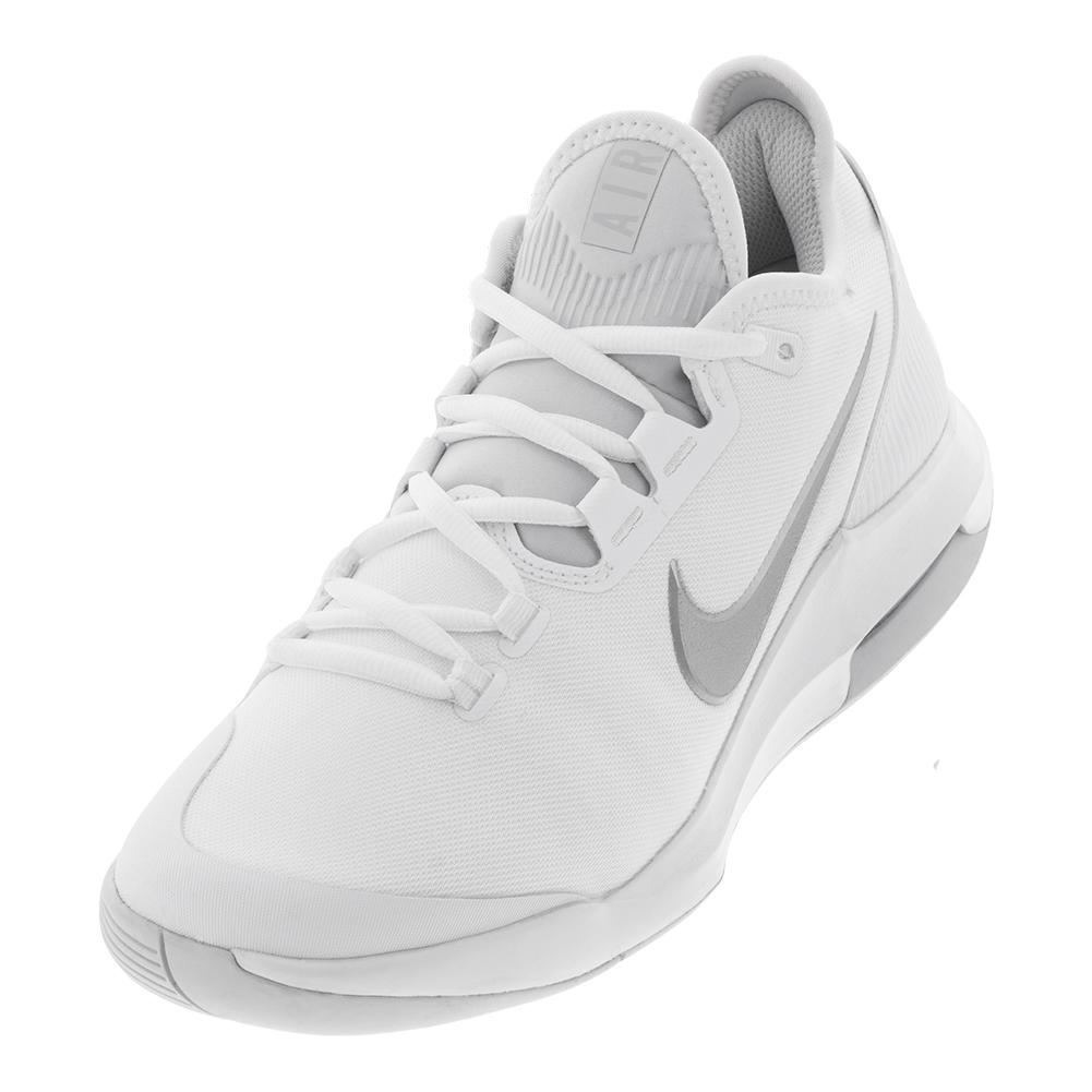 pretty nice 3e404 57a49 Women s Air Max Wildcard Tennis Shoes White And Metallic Silver