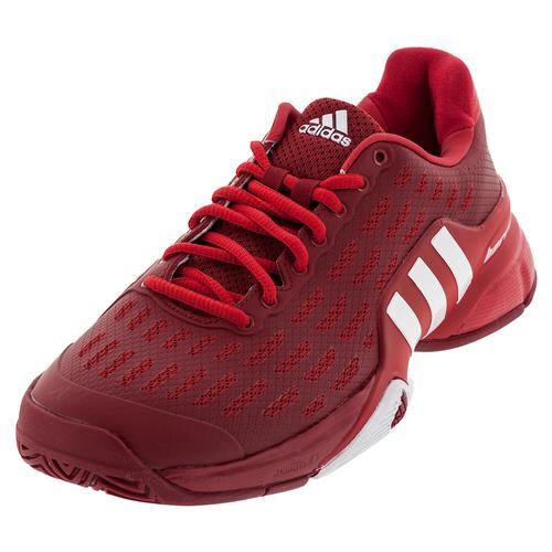 Men's Barricade 2016 Tennis Shoes Power Red And White
