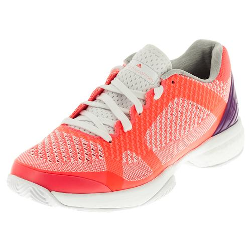 Women's Asmc Barricade Boost Tennis Shoes Flash Red And White