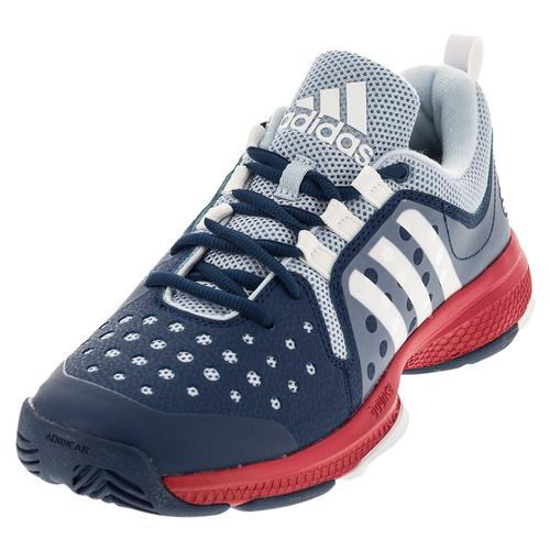 Women's Barricade Classic Bounce Tennis Shoes Tech Steel And White