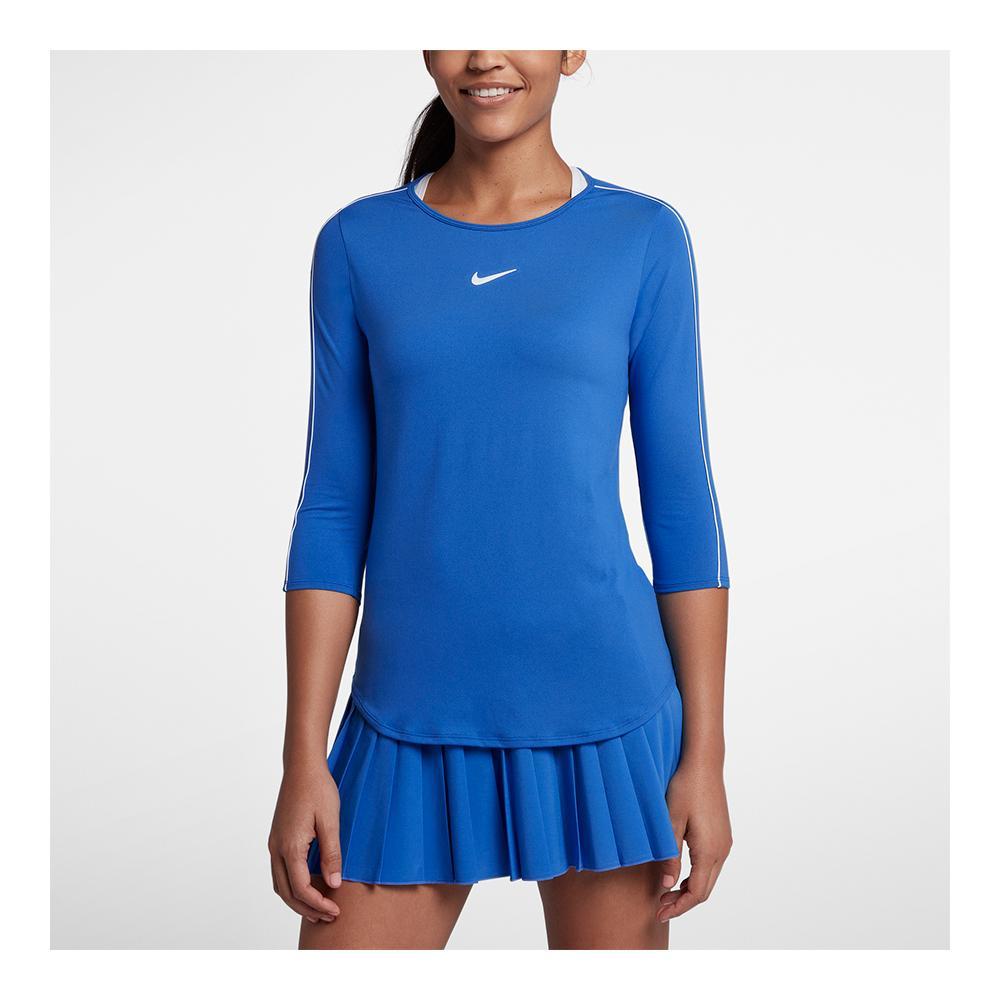 48569fc4d2b Women`s Court 3 4 Sleeve Tennis Top 609 BORDEAUX