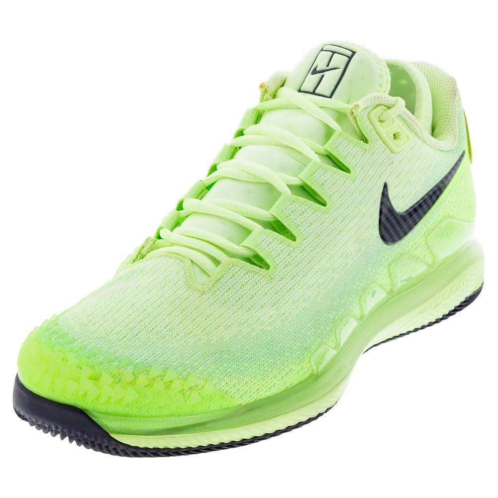 Men's Air Zoom Vapor X Knit Tennis Shoes Ghost Green And Barely Volt