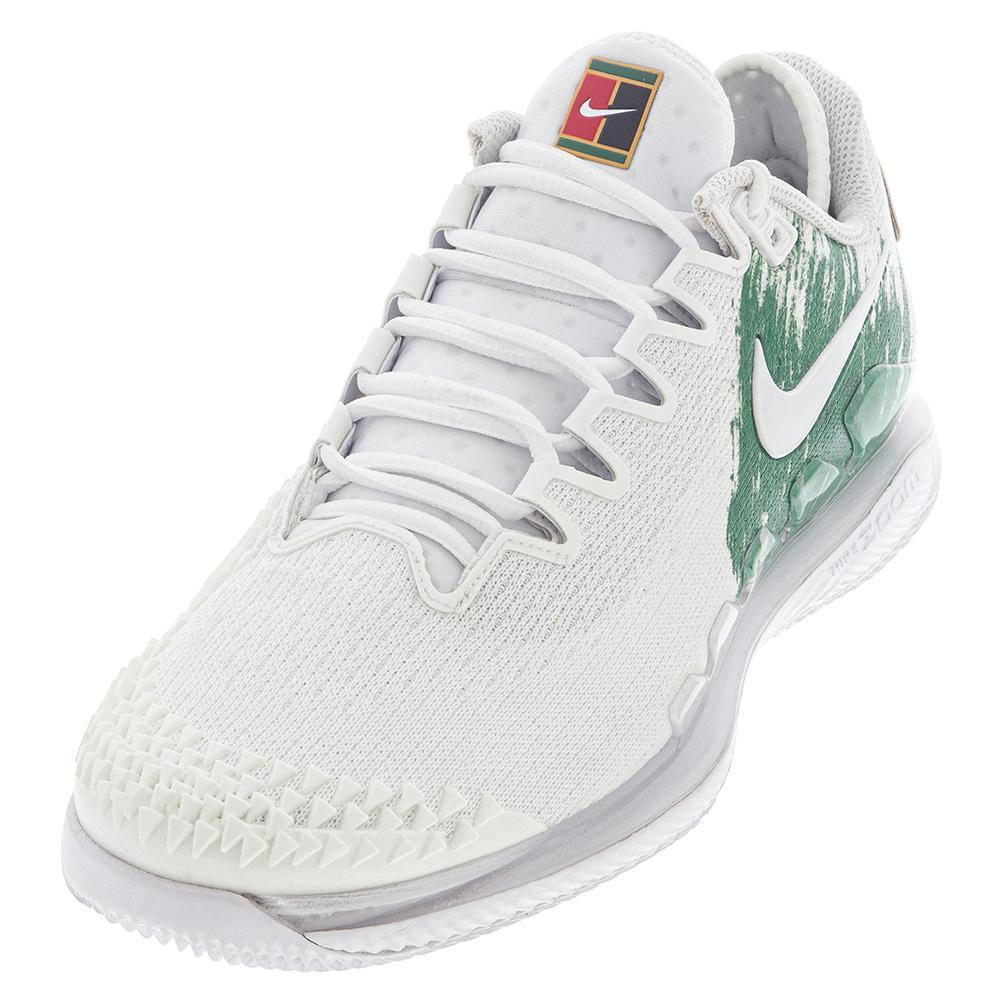 Women's Air Zoom Vapor X Knit Tennis Shoes White And Clover