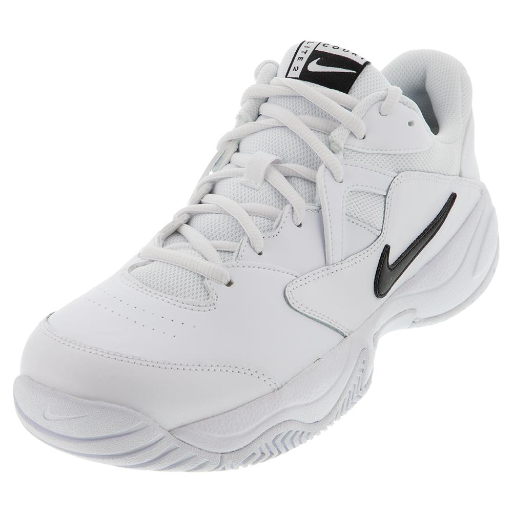 Men's Court Lite 2 Tennis Shoes White And Black