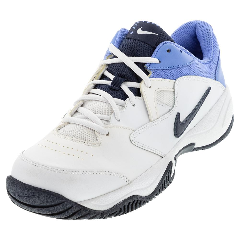 Men's Court Lite 2 Tennis Shoes White And Royal Pulse