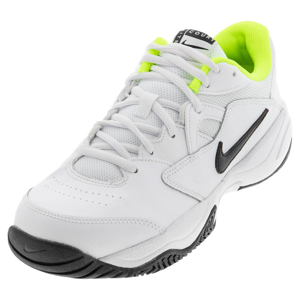 Men's Court Lite 2 Wide Tennis Shoes White And Black