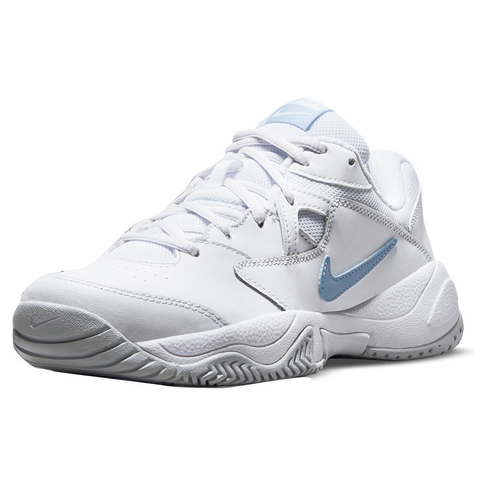 Women's Court Lite 2 Tennis Shoes White And Aluminum