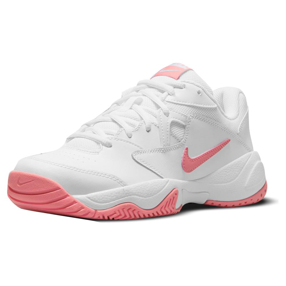 Women's Court Lite 2 Tennis Shoes White And Pink Salt