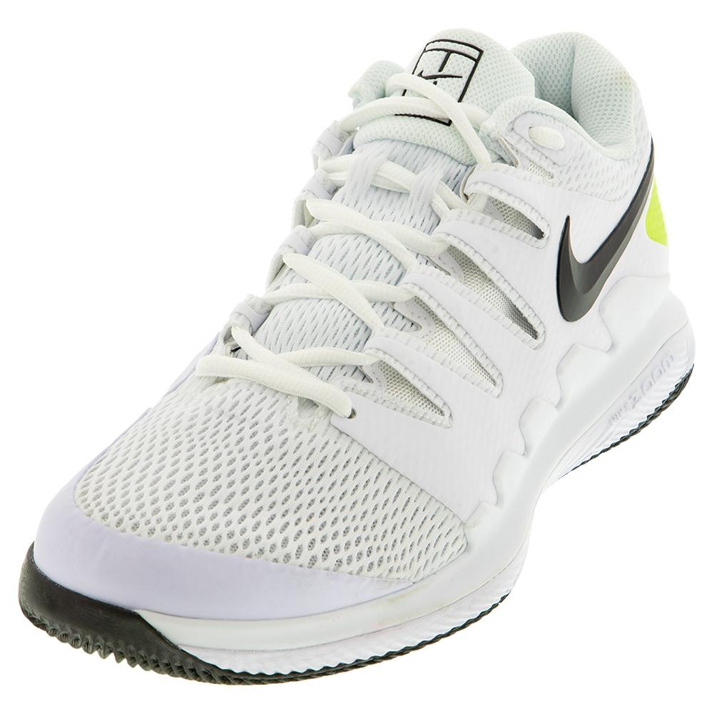 Juniors ` Vapor X Tennis Shoes White And Black
