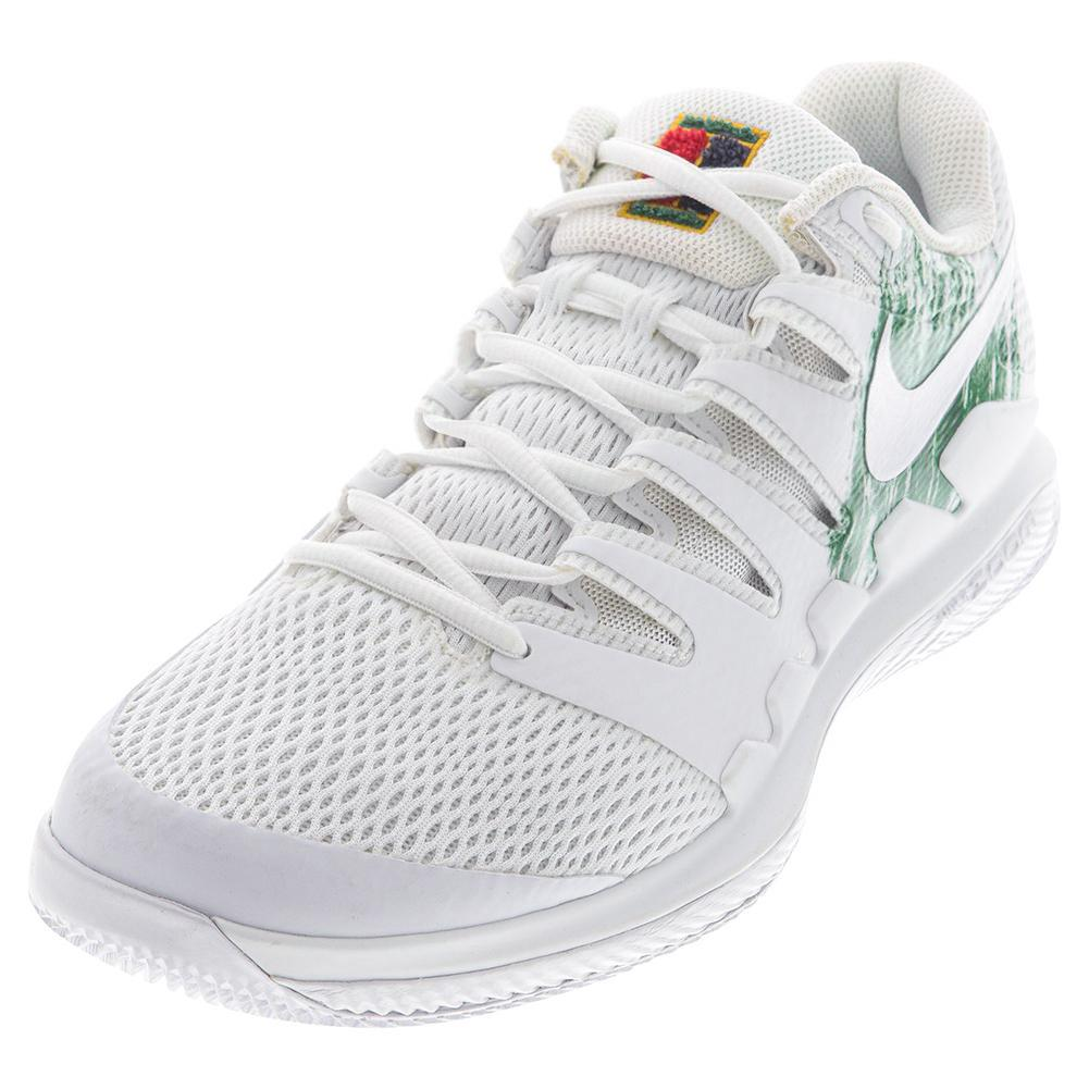 Juniors ` Court Vapor X Tennis Shoes White And Clover