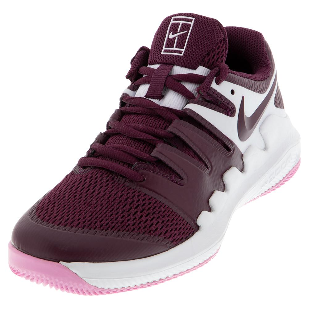 Juniors ` Vapor X Tennis Shoes White And Bordeaux