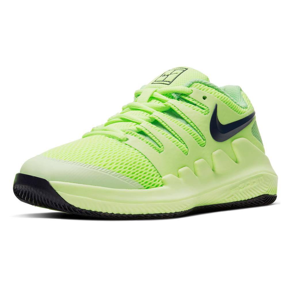 Juniors ` Vapor X Tennis Shoes Ghost Green And Barely Volt