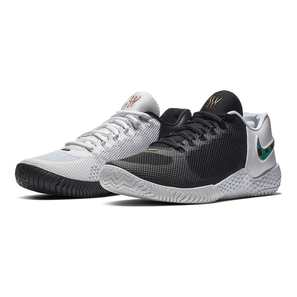 9e60db1c85f5ce NIKE NIKE Women s Flare 2 Qs Bhm Tennis Shoes Black And Lucid Green