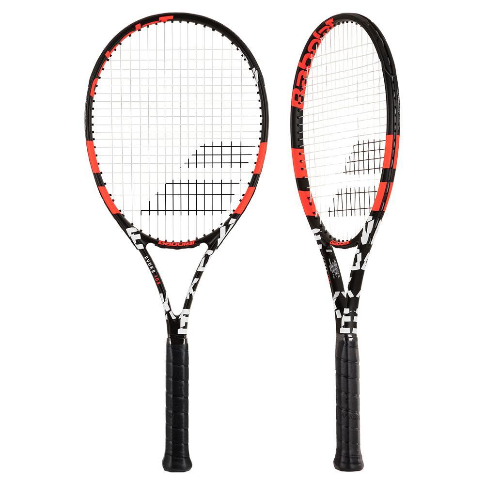 Evoke 105 Prestrung Tennis Racquet Black And Orange