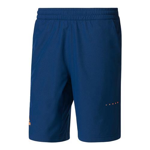 Men's Barricade Bermuda Tennis Short Mystery Blue And Glow Orange