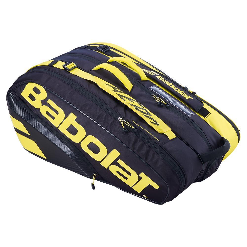 Pure Aero Rhx12 Tennis Bag Black And Yellow