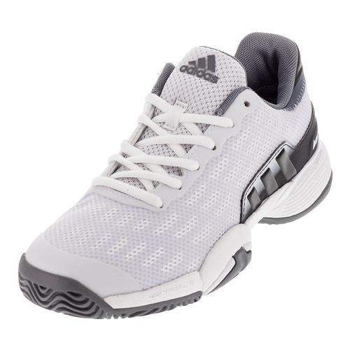 Juniors ` Barricade 2017 Tennis Shoes White And Solid Gray