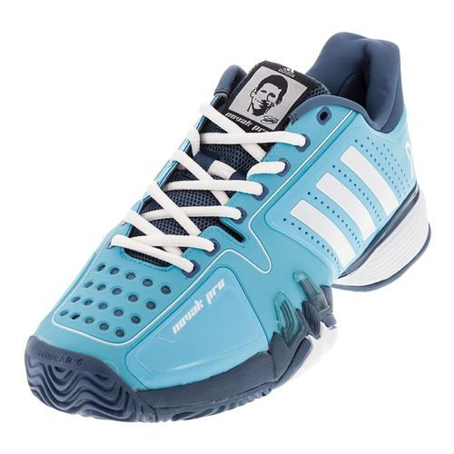 Men's Novak Pro Tennis Shoes Blue Glow And White