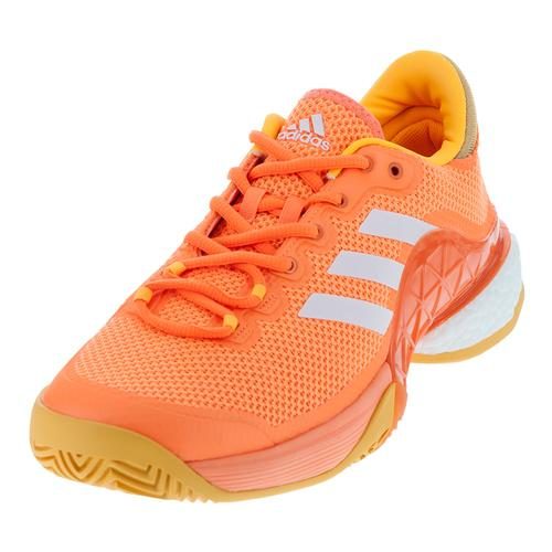 Men's Barricade 2017 Boost Tennis Shoes Glow Orange And White