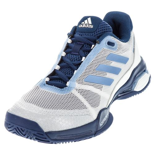 Juniors ` Barricade Club Tennis Shoes White And Tech Blue Metallic