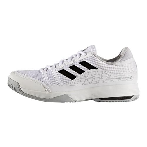 adidas s barricade court wide tennis shoes white and black