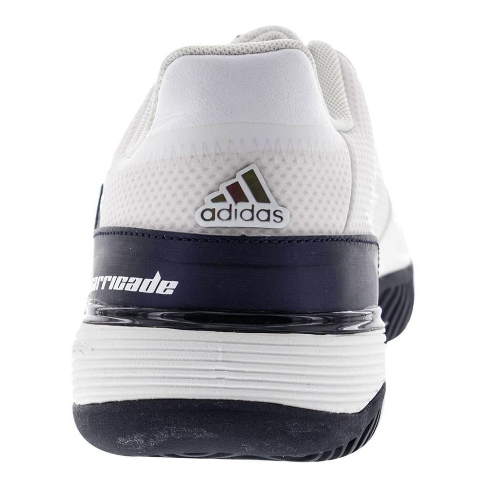 ADIDAS Juniors` Barricade 2016 Tennis Shoes White and Collegiatge ...