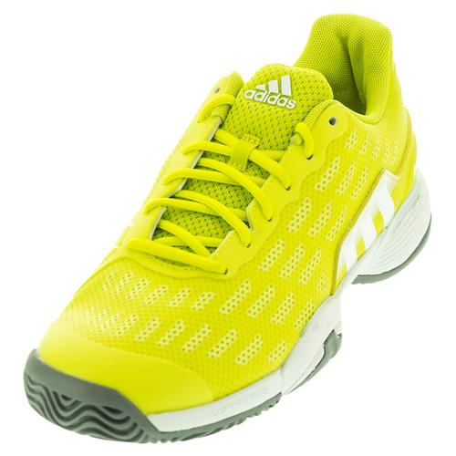 Juniors ` Barricade 2016 Tennis Shoes Shock Slime And White