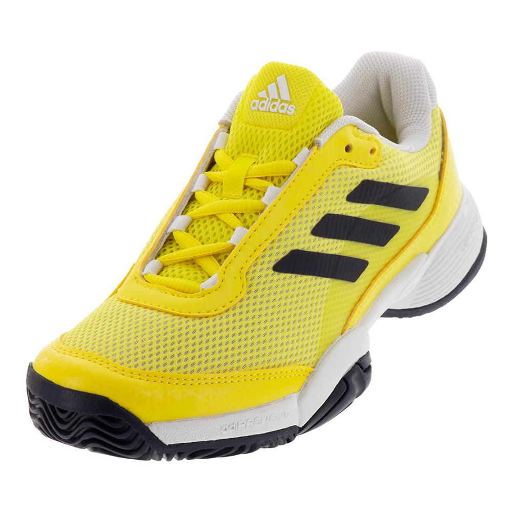 Juniors ` Barricade Club Tennis Shoes Shock Yellow And Legend Ink