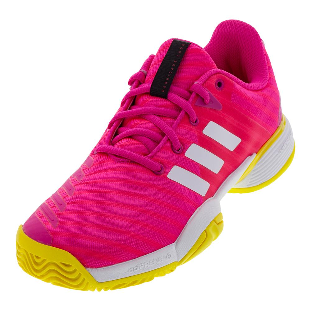 Juniors ` Barricade 2018 Tennis Shoes Shock Pink And White