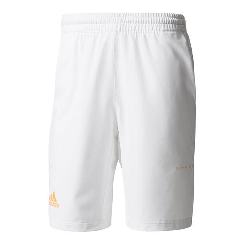 Men's Barricade Bermuda Tennis Short White And Glow Orange