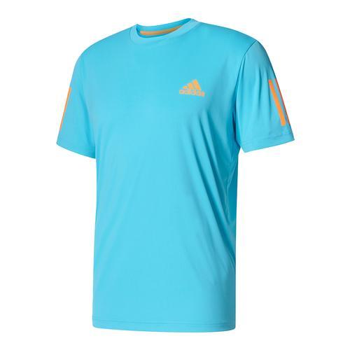 Men's Club Tennis Tee Samba Blue And Glow Orange