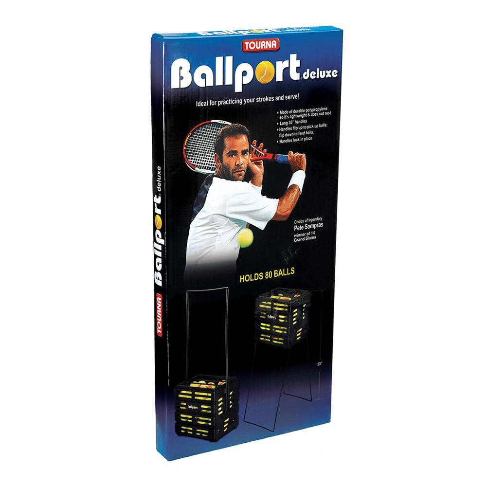 One size Blue Tourna Pete Sampras Ballport Holds 80 Balls