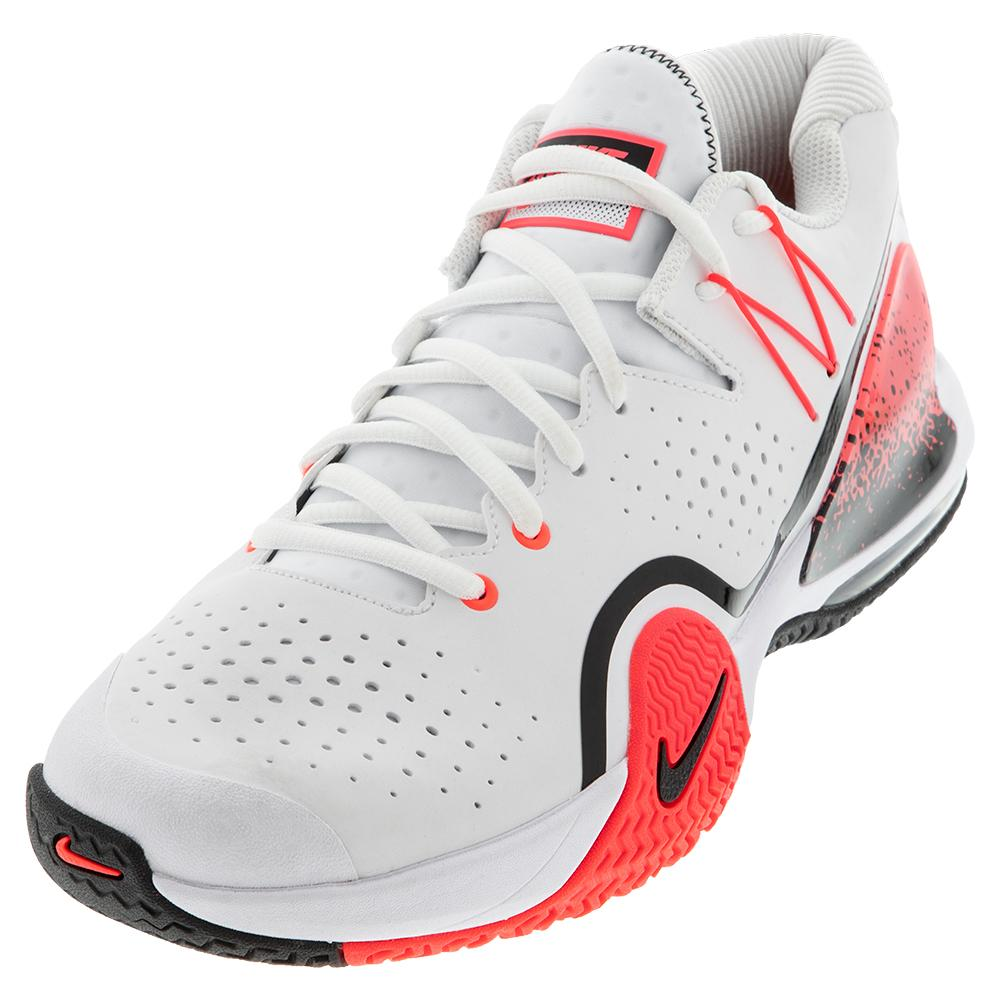 Men's Tech Challenge 20 Tennis Shoes White And Hot Lava