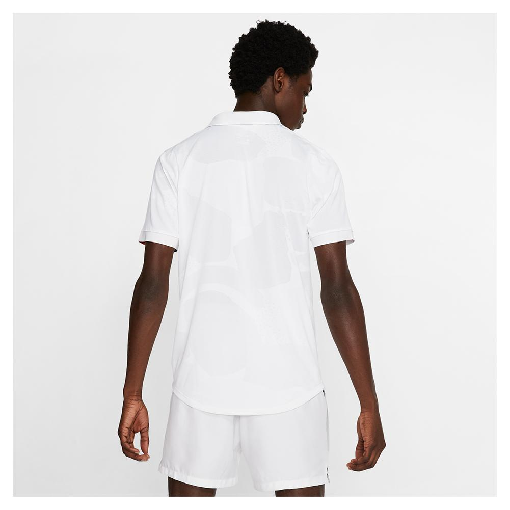 Size M MENS TEAM POLO LEAD//WHITE