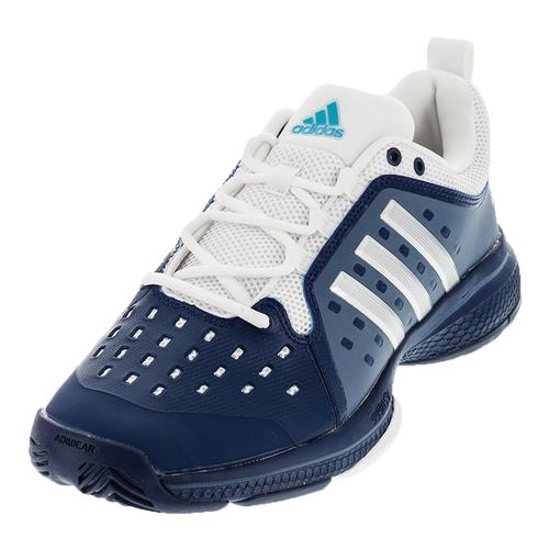 Men's Barricade Classic Bounce Tennis Shoes Mystery Blue And Silver Metallic