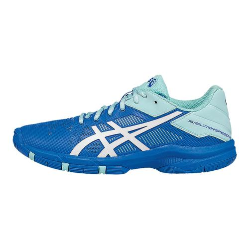 Juniors ` Gel- Solution Speed 3 Tennis Shoes Aqua Splash And White