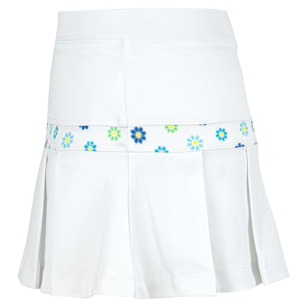 TennisExpress Little Miss Tennis Girls` Mini Pleat Tennis Skort White Active  Skirts Active