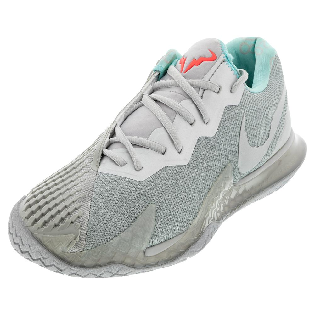 Men's Air Zoom Vapor Cage 4 Tennis Shoes Metallic Silver