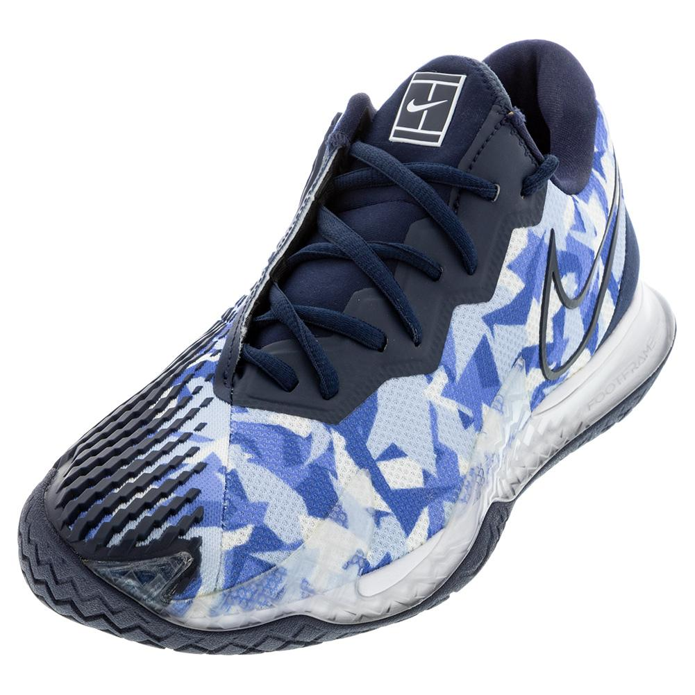 Men's Air Zoom Vapor Cage 4 Tennis Shoes Royal Pulse And Obsidian