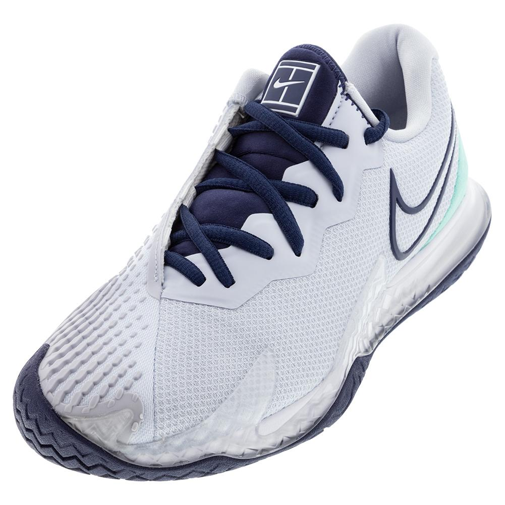 Women's Air Zoom Vapor Cage 4 Tennis Shoes Football Grey And Midnight Navy