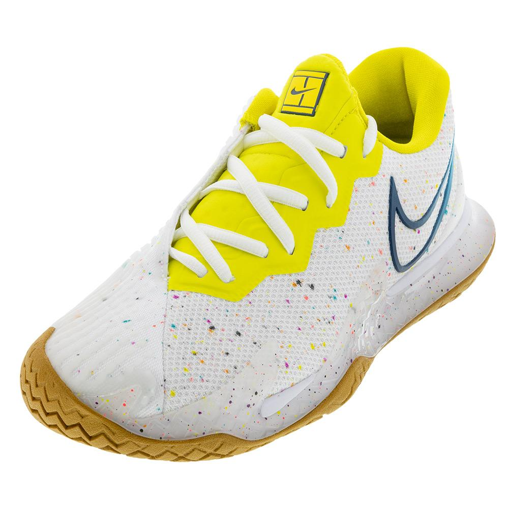 Women's Air Zoom Vapor Cage 4 Tennis Shoes White And Valerian Blue