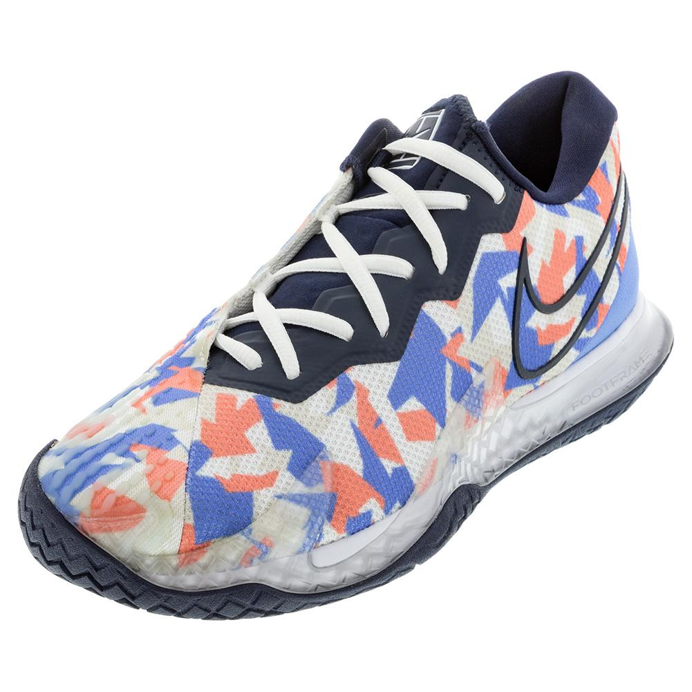 Women's Air Zoom Vapor Cage 4 Tennis Shoes Royal Pulse And White