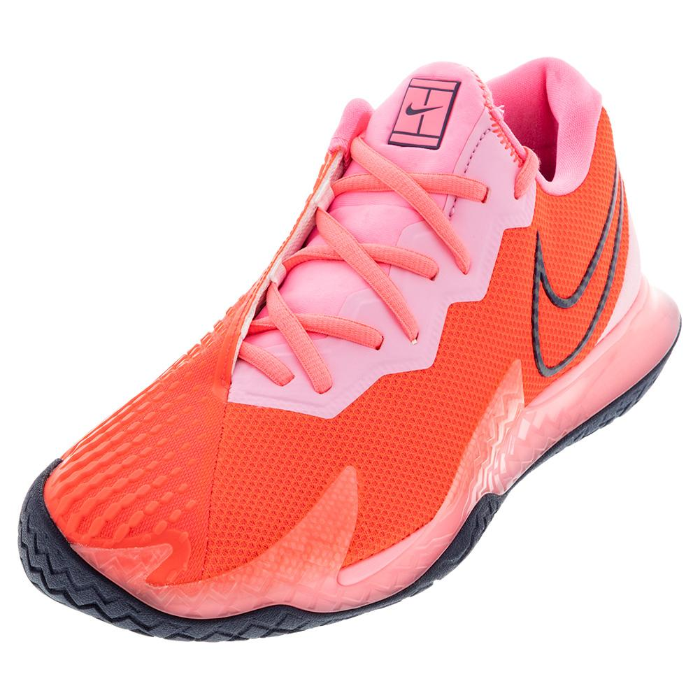 Women's Air Zoom Vapor Cage 4 Tennis Shoes Laser Crimson And Pink