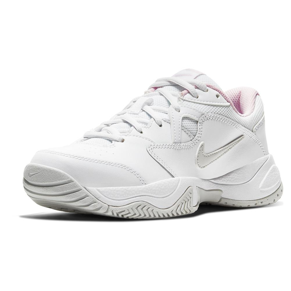 Juniors ` Court Lite 2 Tennis Shoes White And Photon Dust
