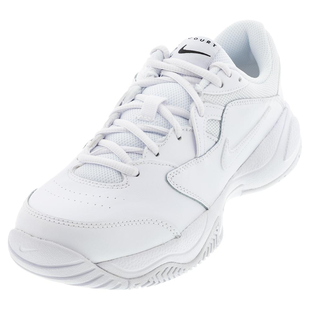 Juniors ` Court Lite 2 Tennis Shoes White